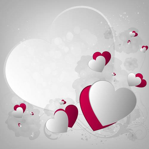 Textured Valentines Day element vector material 05