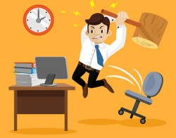 Abreaction workplace character vector