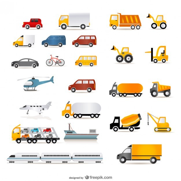 a wide range of transport vector  Vector | Free Download