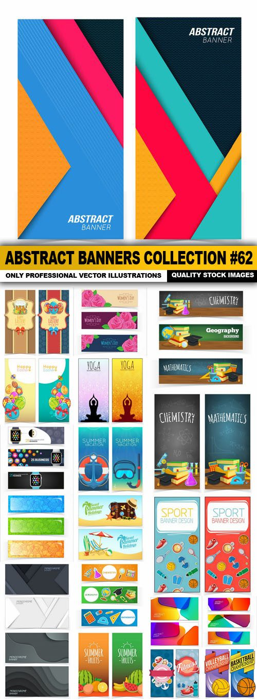 Abstract Banners Collection #62 – 20 Vectors