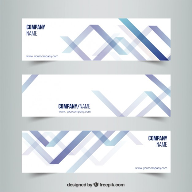 Abstract banners in modern style  Vector   Free Download