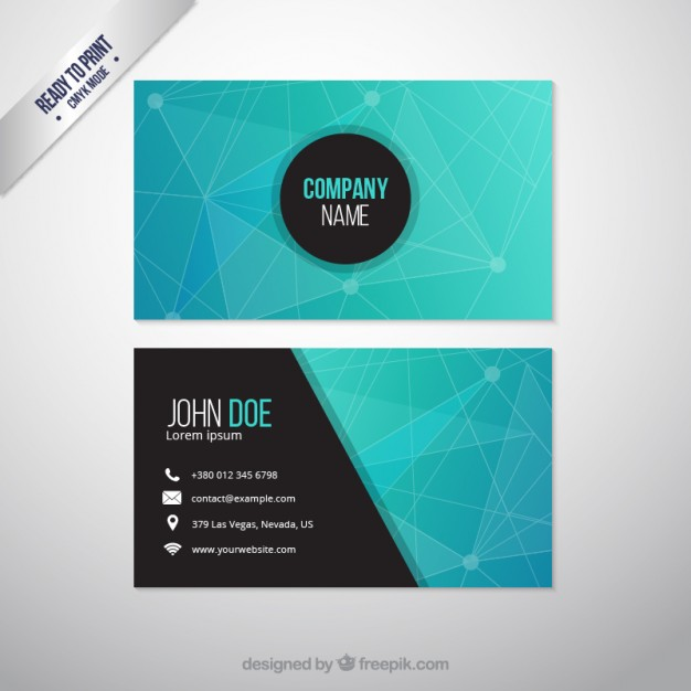 Abstract business card  Vector | Free Download