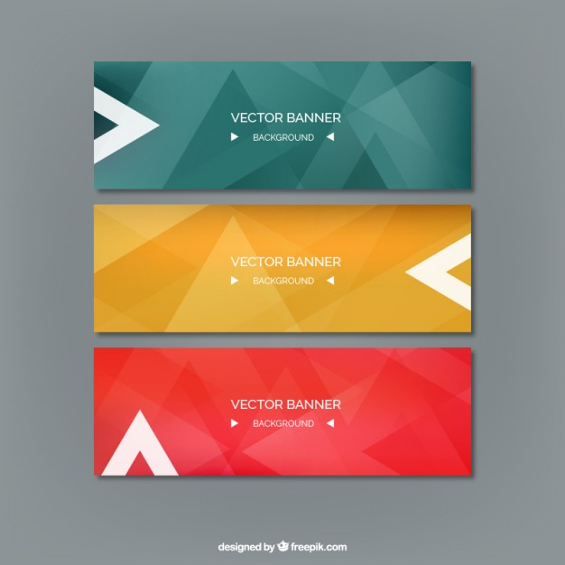 Abstract colored banners  Vector | Free Download