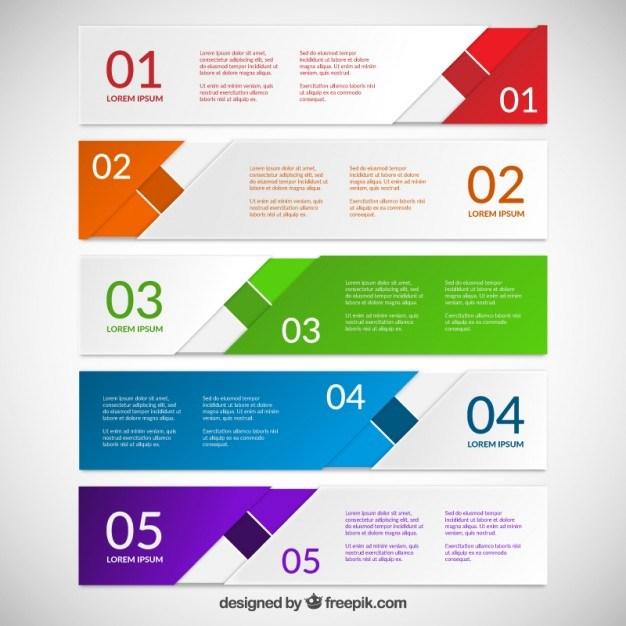 Abstract colorful banners for infographic  Vector | Free Download