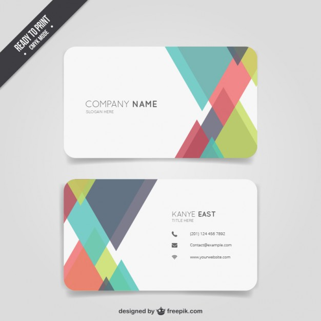 Abstract colour business card  Vector | Free Download