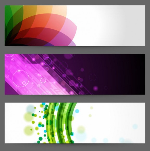 abstract design banners  Vector | Free Download