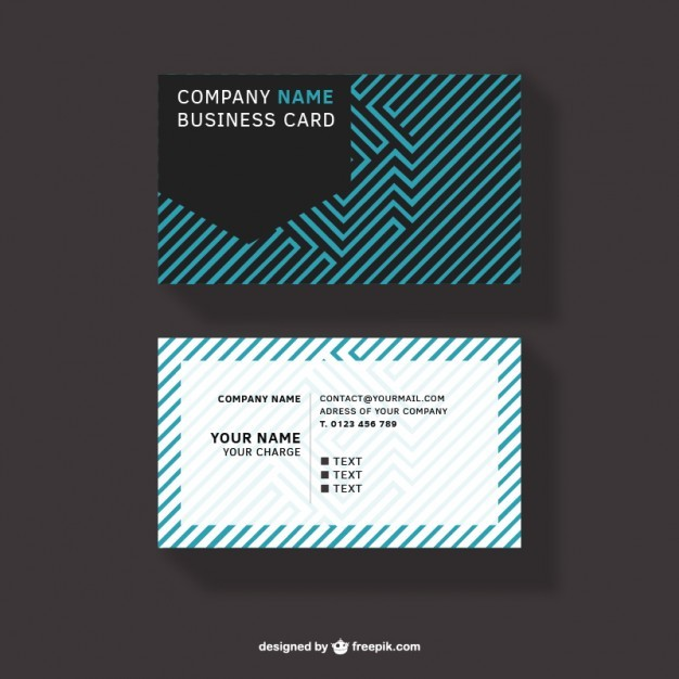Abstract design business card free download  Vector | Free Download