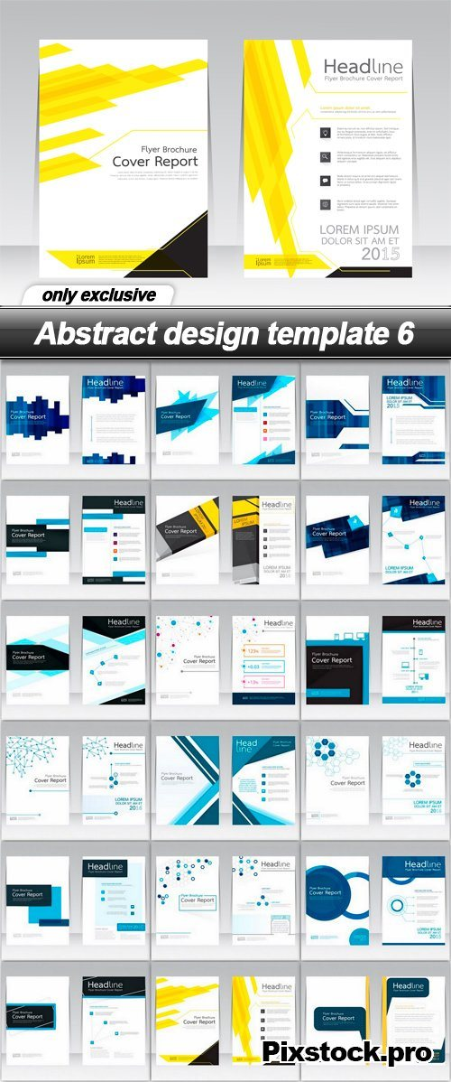 Abstract design template 6 – 18 EPS