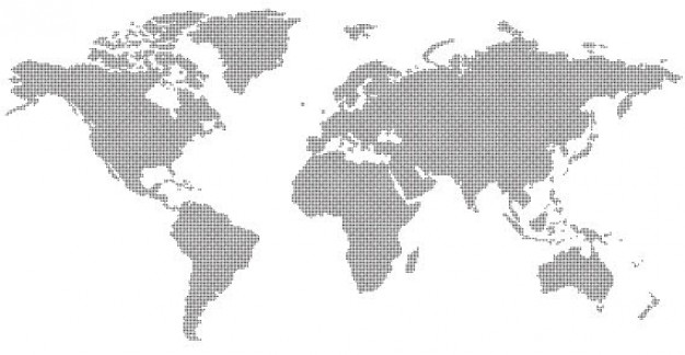 Abstract World Map  Vector   Free Download