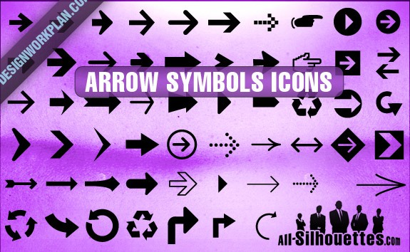 Arrow Symbols Icons – All-Silhouettes