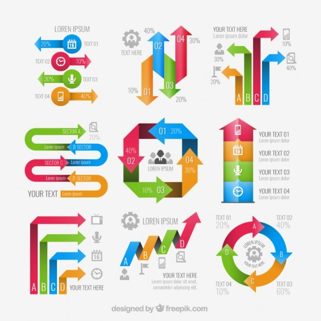 Arrows infographic elements  Vector | Free Download