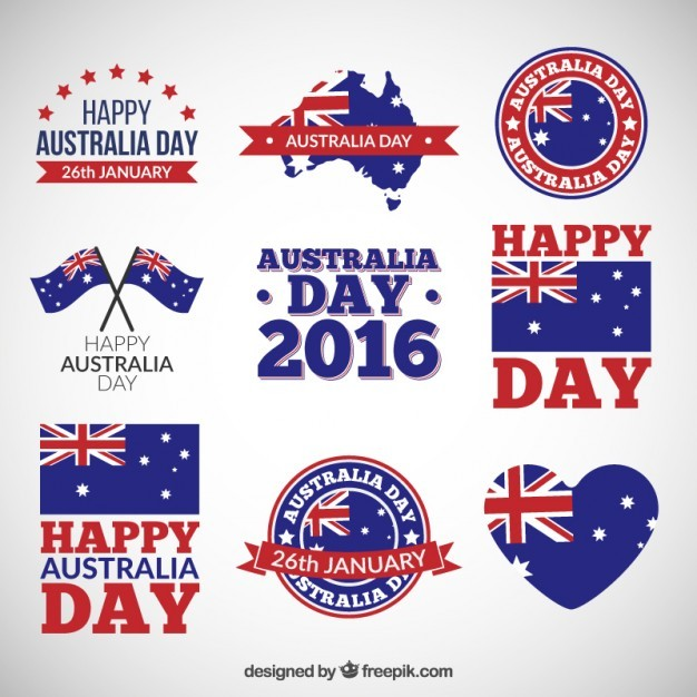 australia day badges pack epin free graphic clipart icon sign