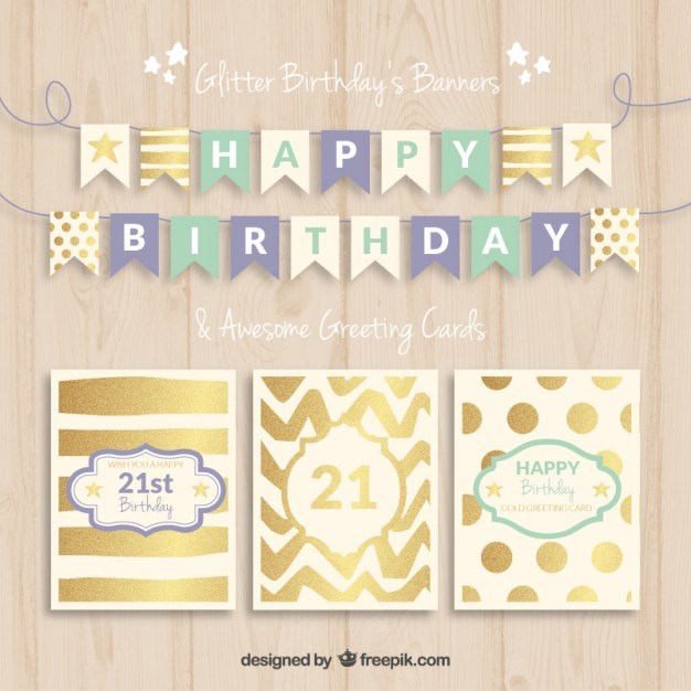 Birthday banners and cards