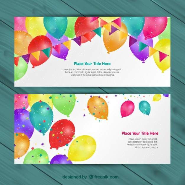 Birthday invitations  Vector | Free Download