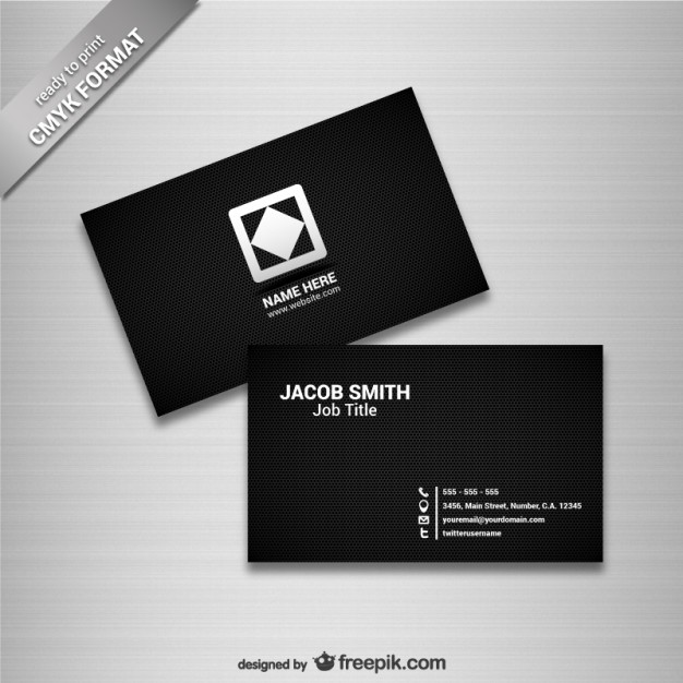Black business card template  Vector | Free Download