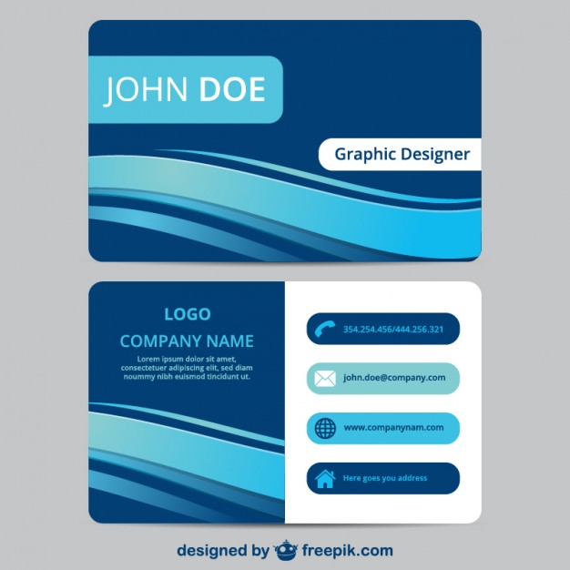 Blue business card template  Vector | Free Download