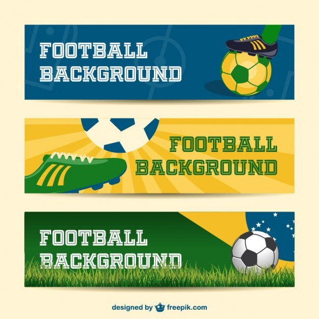 Brazil vector banners collection 2014 soccer event  Vector   Free Download