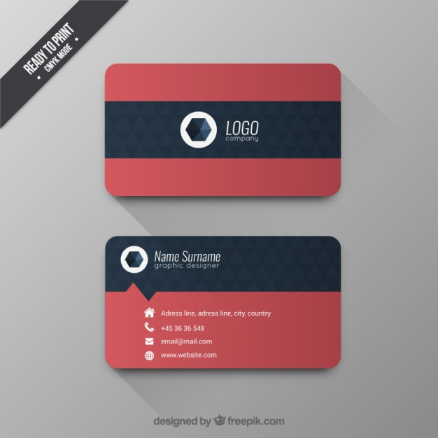 Business card with geometric pattern  Vector | Free Download