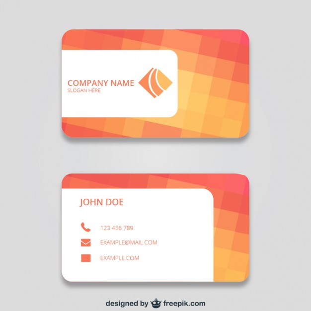 Business card with squares  Vector | Free Download