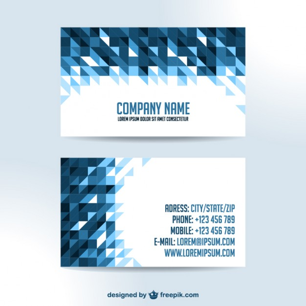 Business cards triangle design   Vector | Free Download
