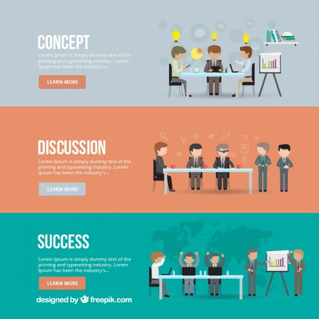 Business meeting banners  Vector | Free Download
