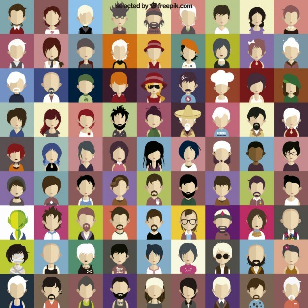 Character faces icons