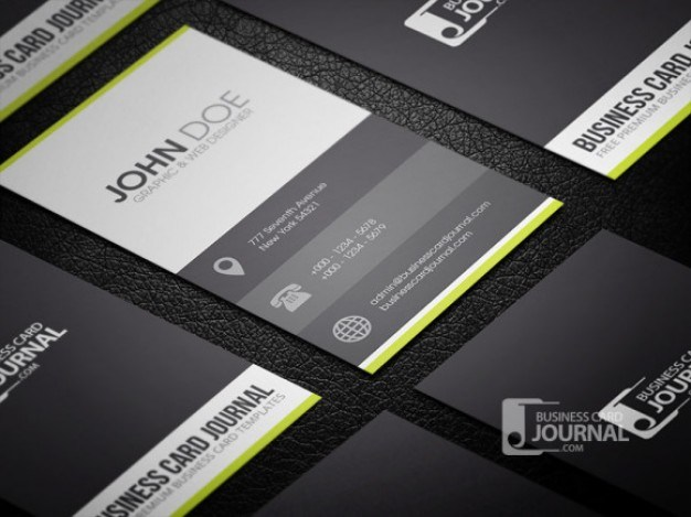 Clean business card template in metro style  PSD file | Free Download