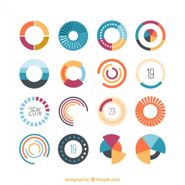 Colored loading icons  Vector | Free Download