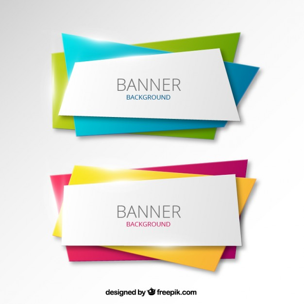 Colorful banners background  Vector | Free Download