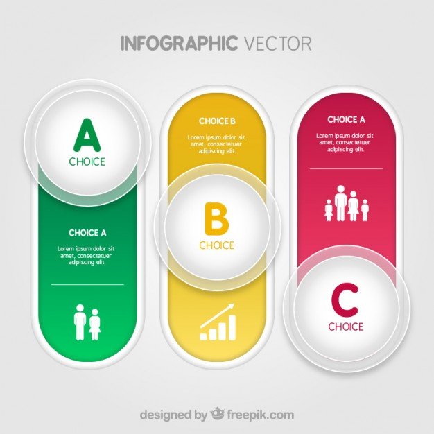 Colorful buttons infographic  Vector | Free Download