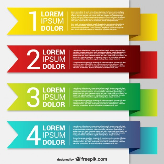 Colorful origami banner templates  Vector | Free Download