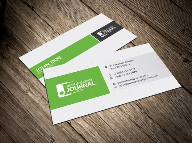 Column layout business card design  PSD file | Free Download