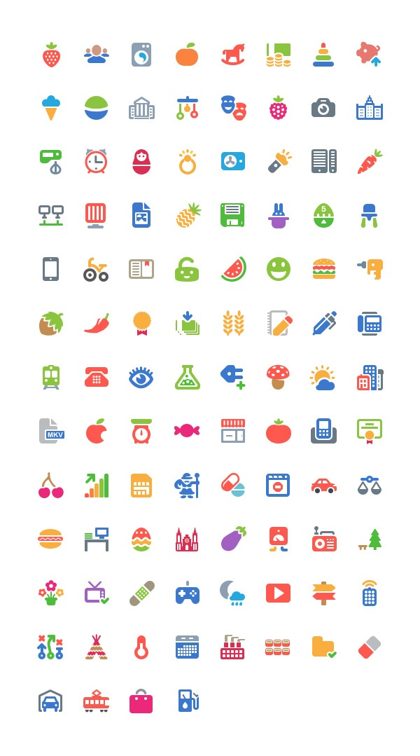 Cosmo: 100 Free Icons | GraphicBurger