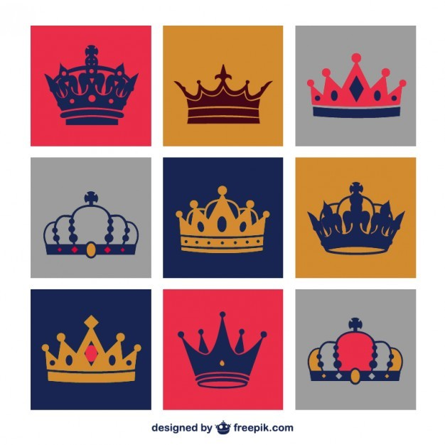 Crowns vector set free download  Vector | Free Download