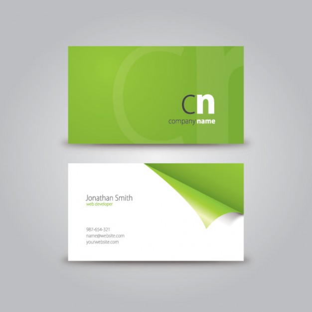 curled corner business card  Vector | Free Download