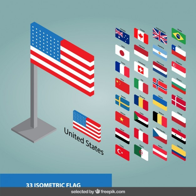 3d flags collection