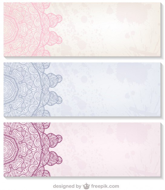 Decorative design banners set   Vector | Free Download
