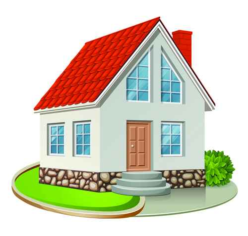 Different Houses design elements vector 03