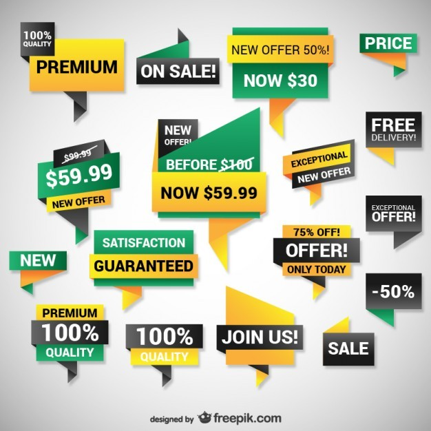 Discount web banners  Vector | Free Download