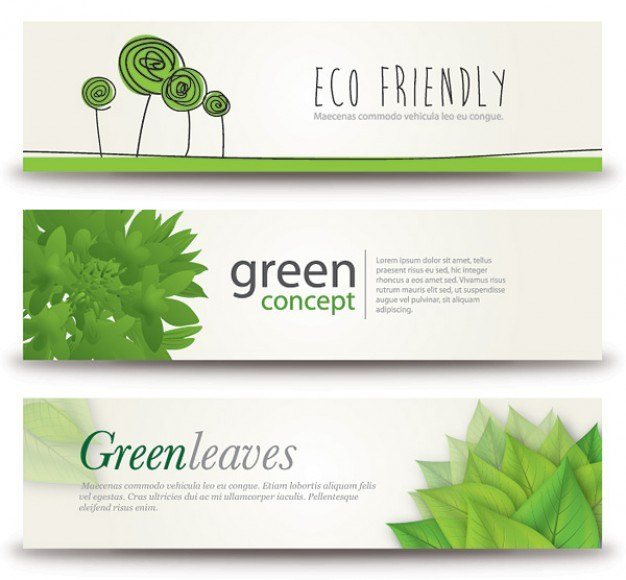 eco banners  Vector | Free Download