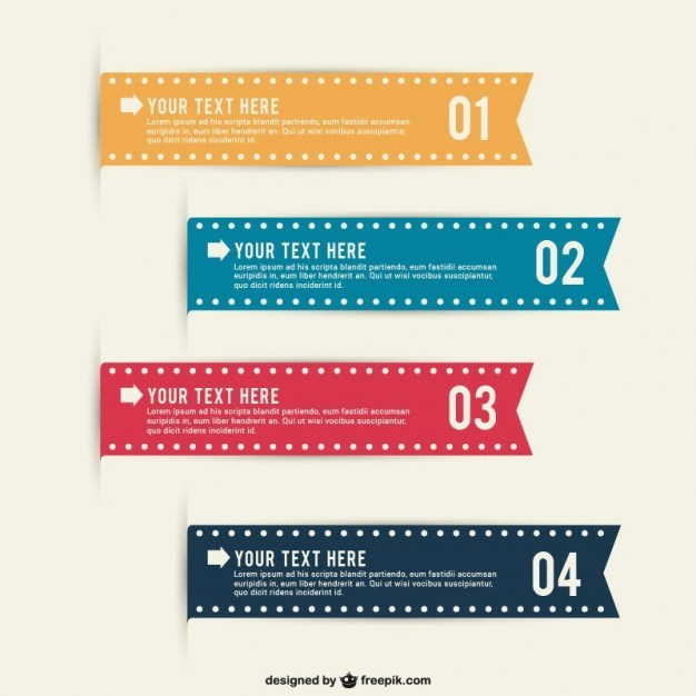 Editable infographic ribbons  Vector | Free Download