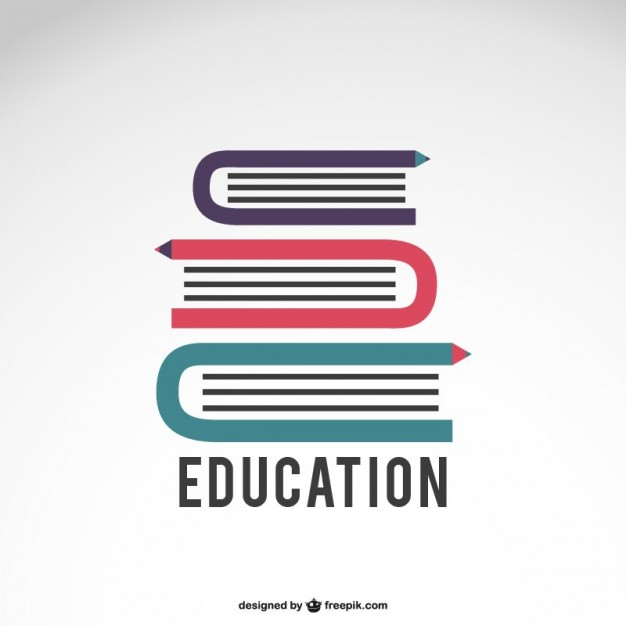 Education logo with books