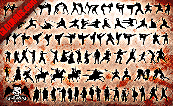 Fighting People – All-Silhouettes