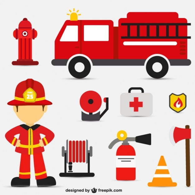 Fire intervention vector set   Vector | Free Download