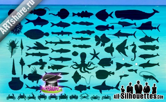 Fish Vector – All-Silhouettes