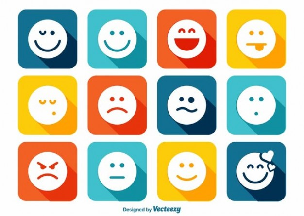 Flat and round vector emotion icons  Vector | Free Download
