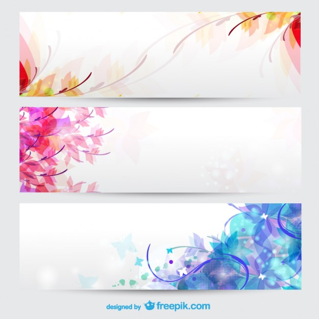 Floral seasons background banners   Vector | Free Download