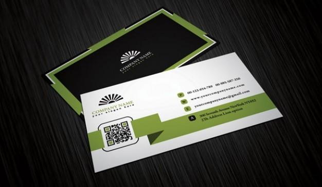 Four business cards template  PSD file | Free Download