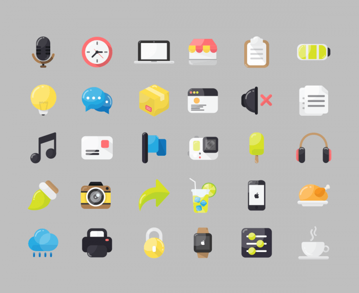 30 Free Flat Icon Pack | IconStore