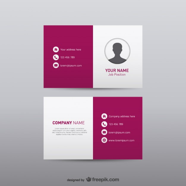 Free visual identity business card   Vector | Free Download